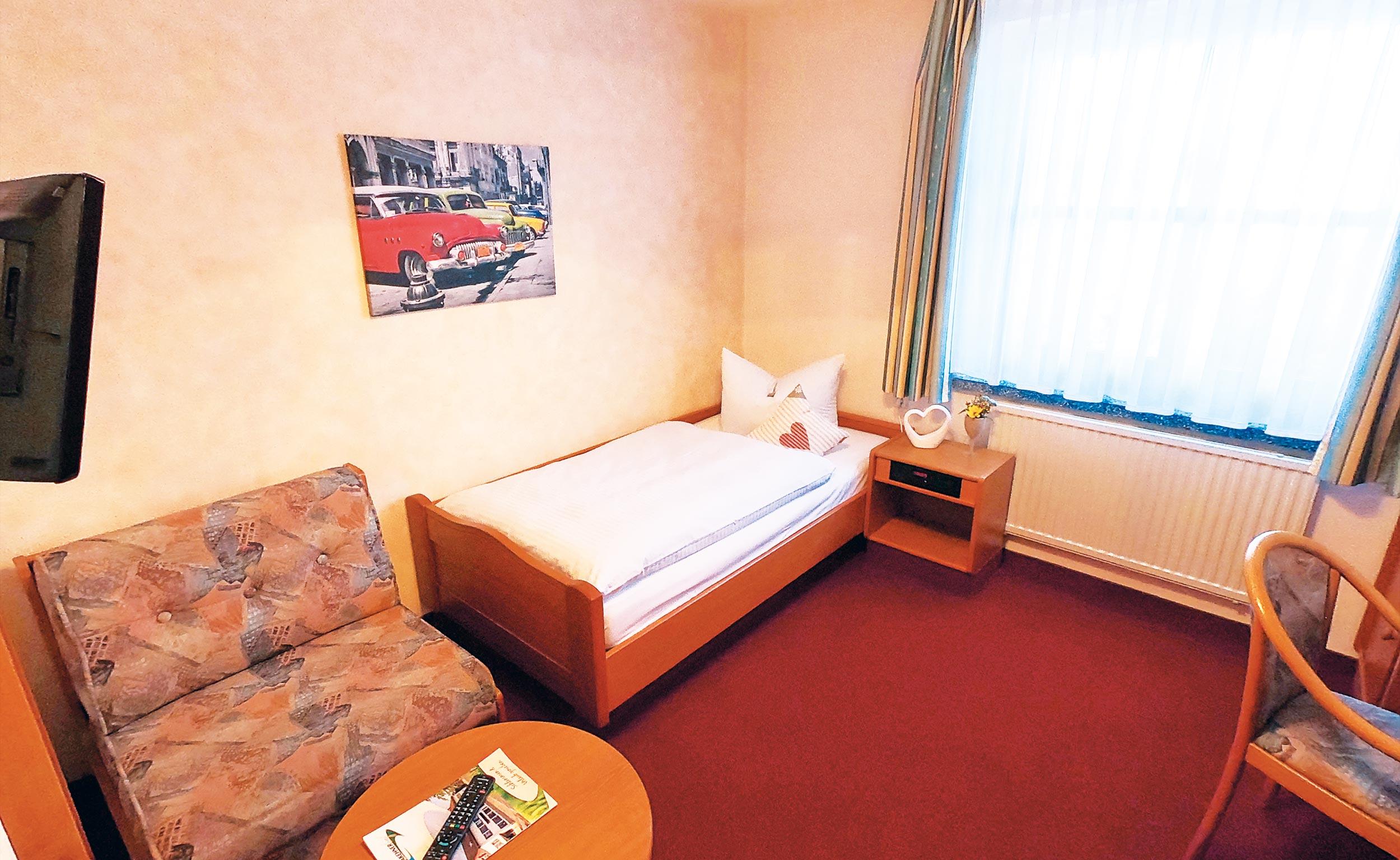 Einzelzimmer üebernachten